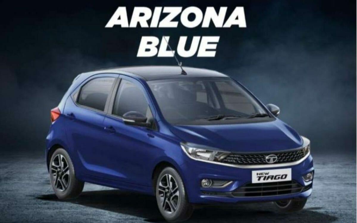 Tata Tiago Arizona Blue colour