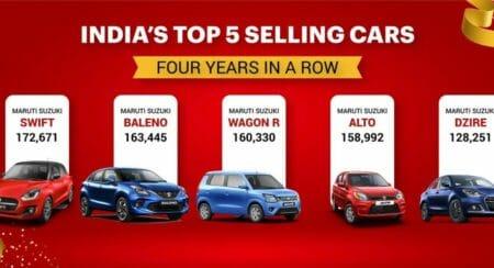 Maruti Suzuki best selling cars