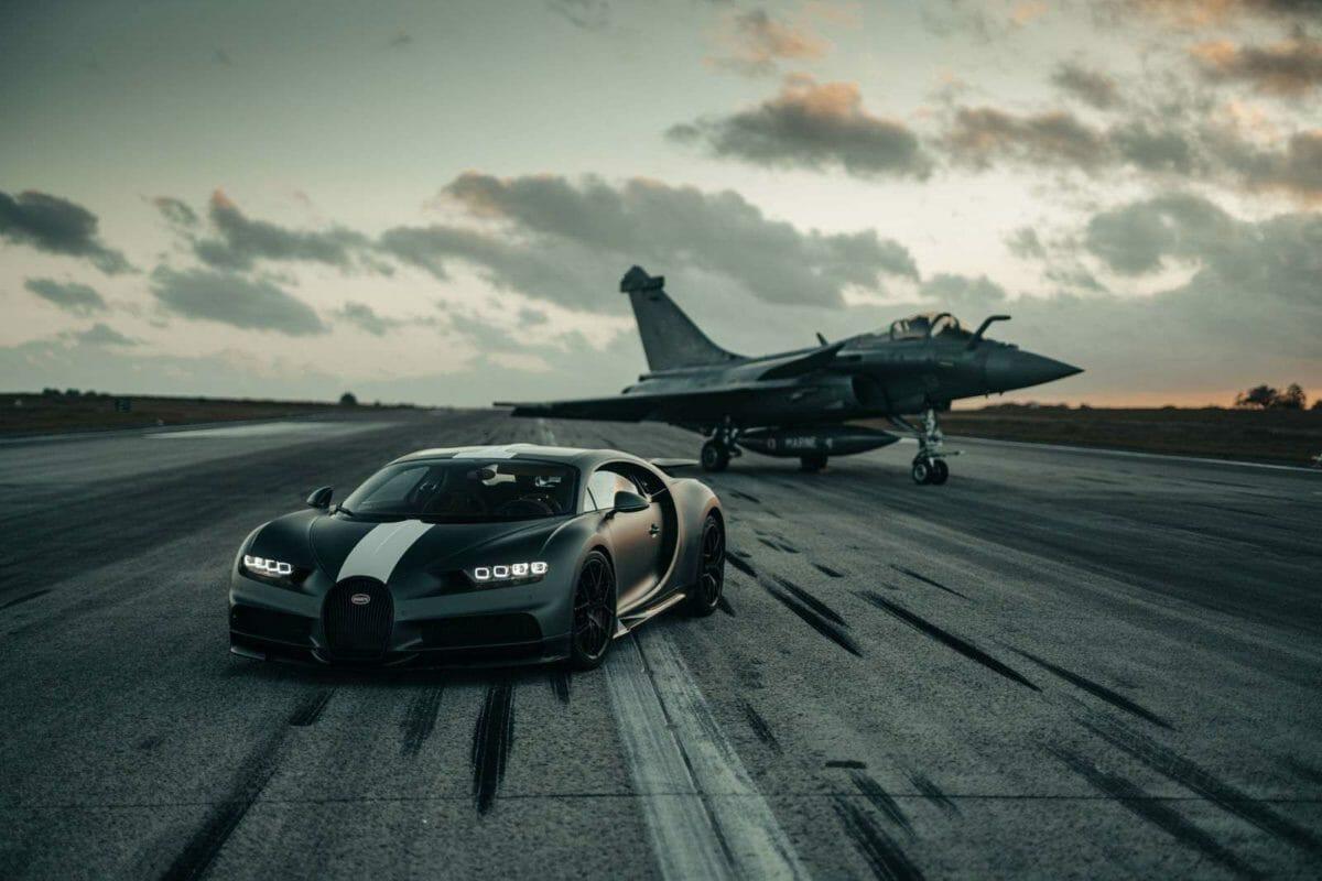 Bugatti Chiron VS Rafale