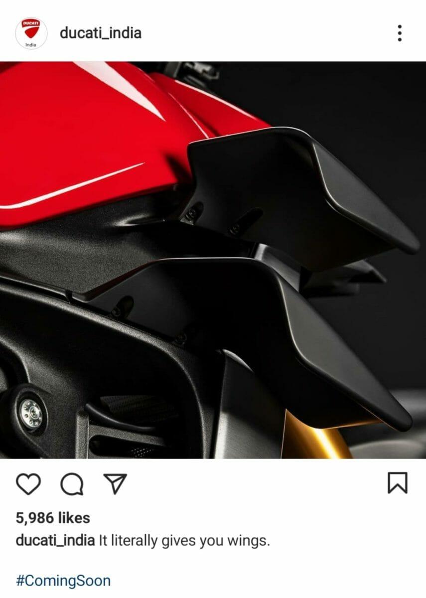 Ducati Streetfighter V4 teaser