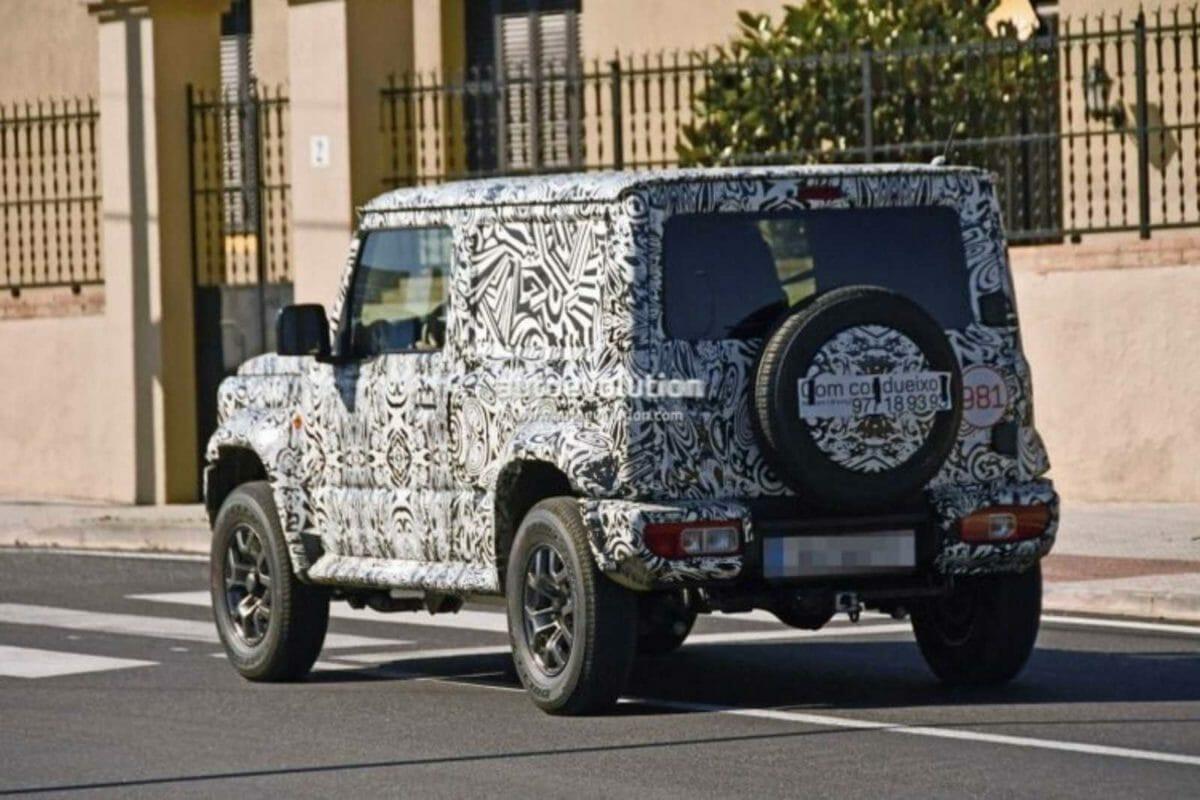 Suzuki Jimny LWB spied