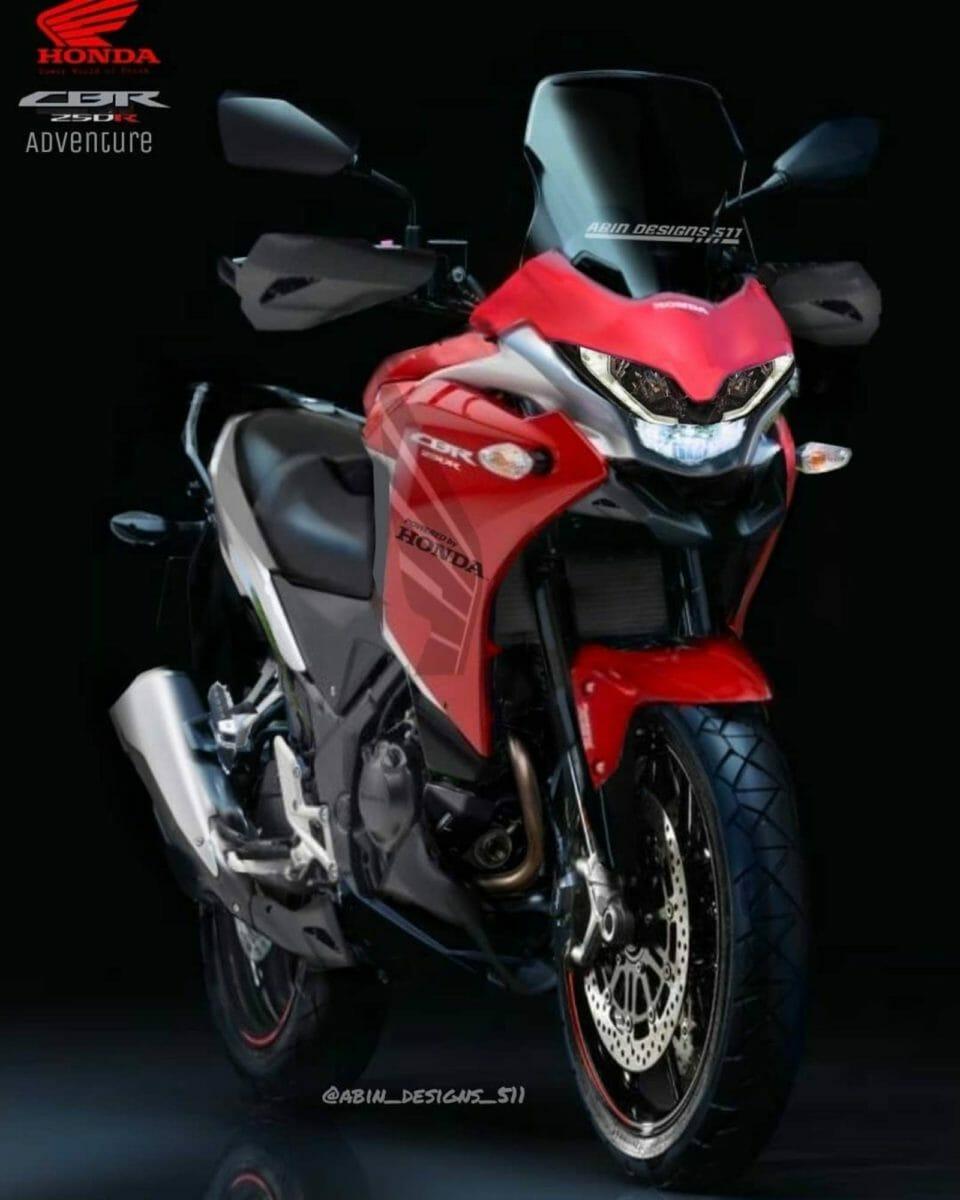 Honda CBR250R adv tourer render
