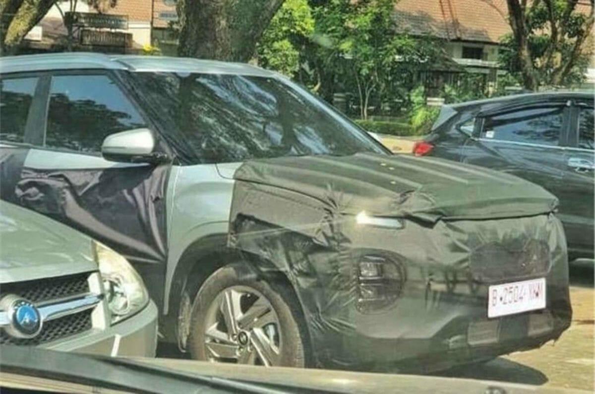 Hyundai Creta Facelift spied (1)