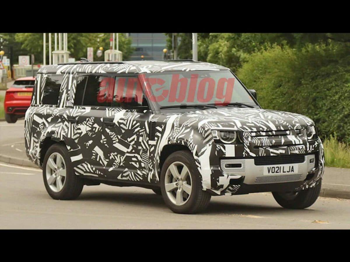 Land Rover Defender 130 spied