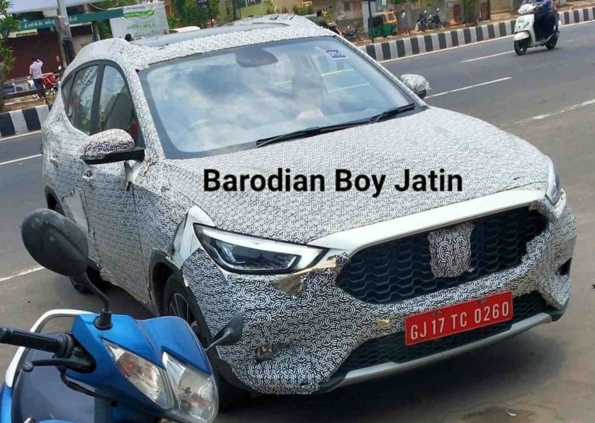 MG ZS Astor spied (2)