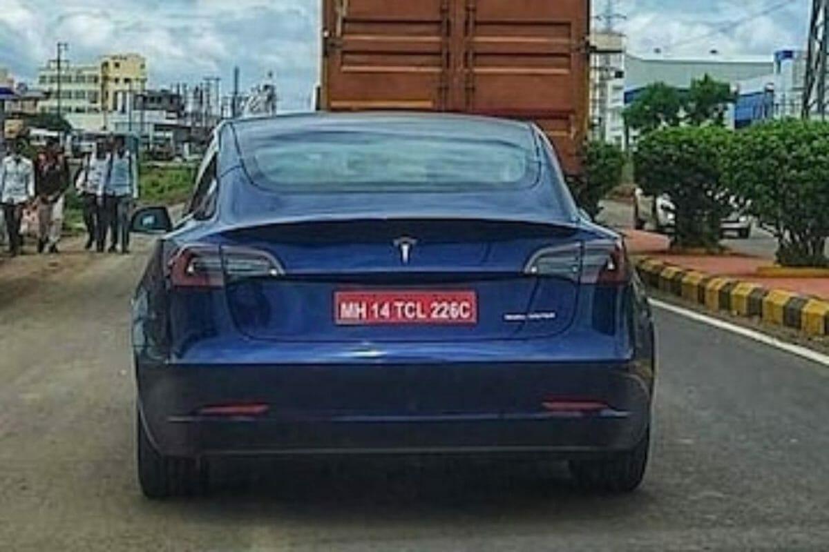 Tesla model 3 spied india