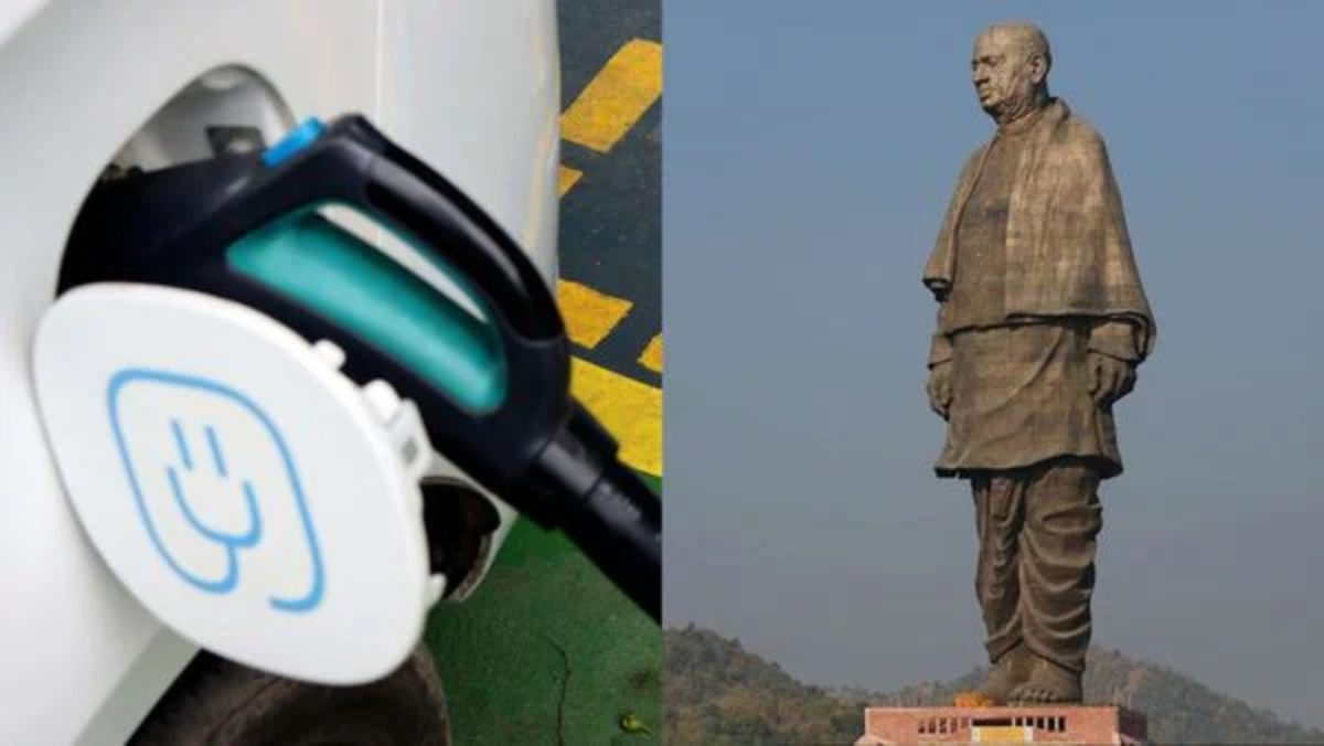 statue of unity electric vehicle