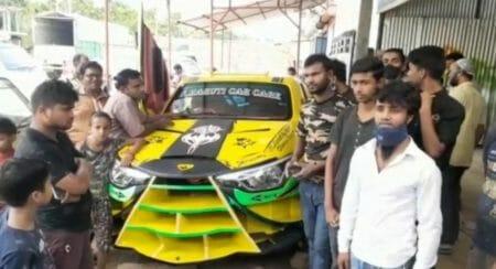 Assam-Based Mechanic Transforms A Humble Maruti Suzuki Swift Into A Lamborghini Replica!