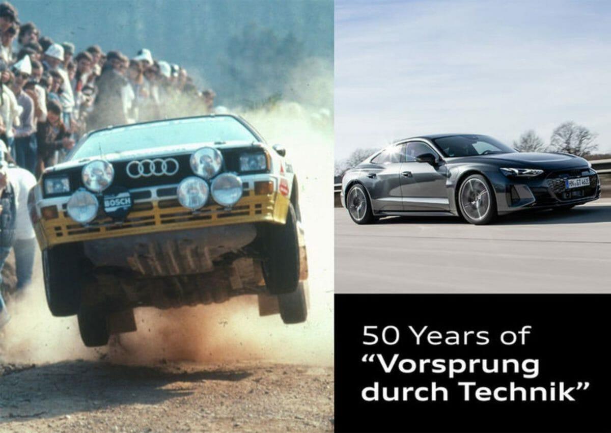 Audi marks 50 Years of Vorsprung durch Technik