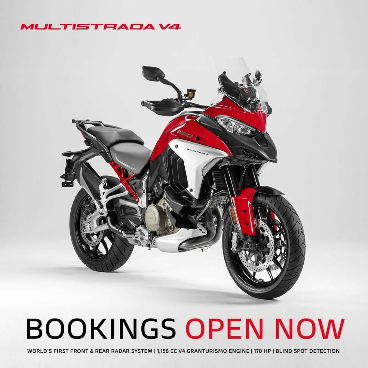 Ducati multistrada v4 bookings