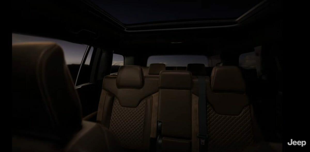Jeep meridian interior teased 2