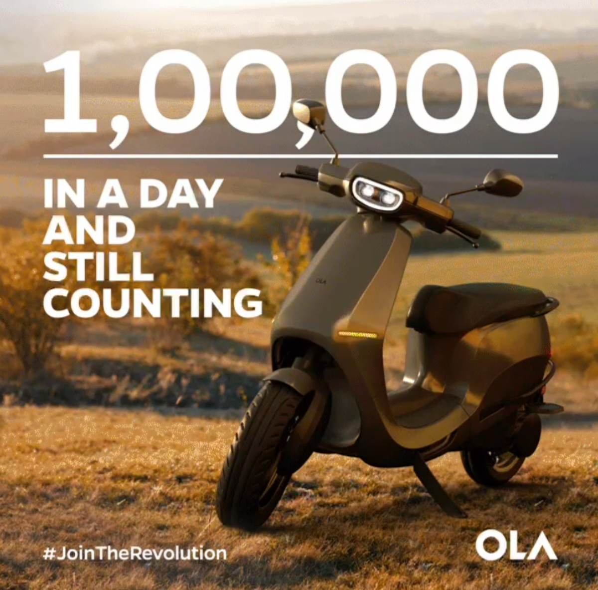 Ola electric 1 lakh bookings