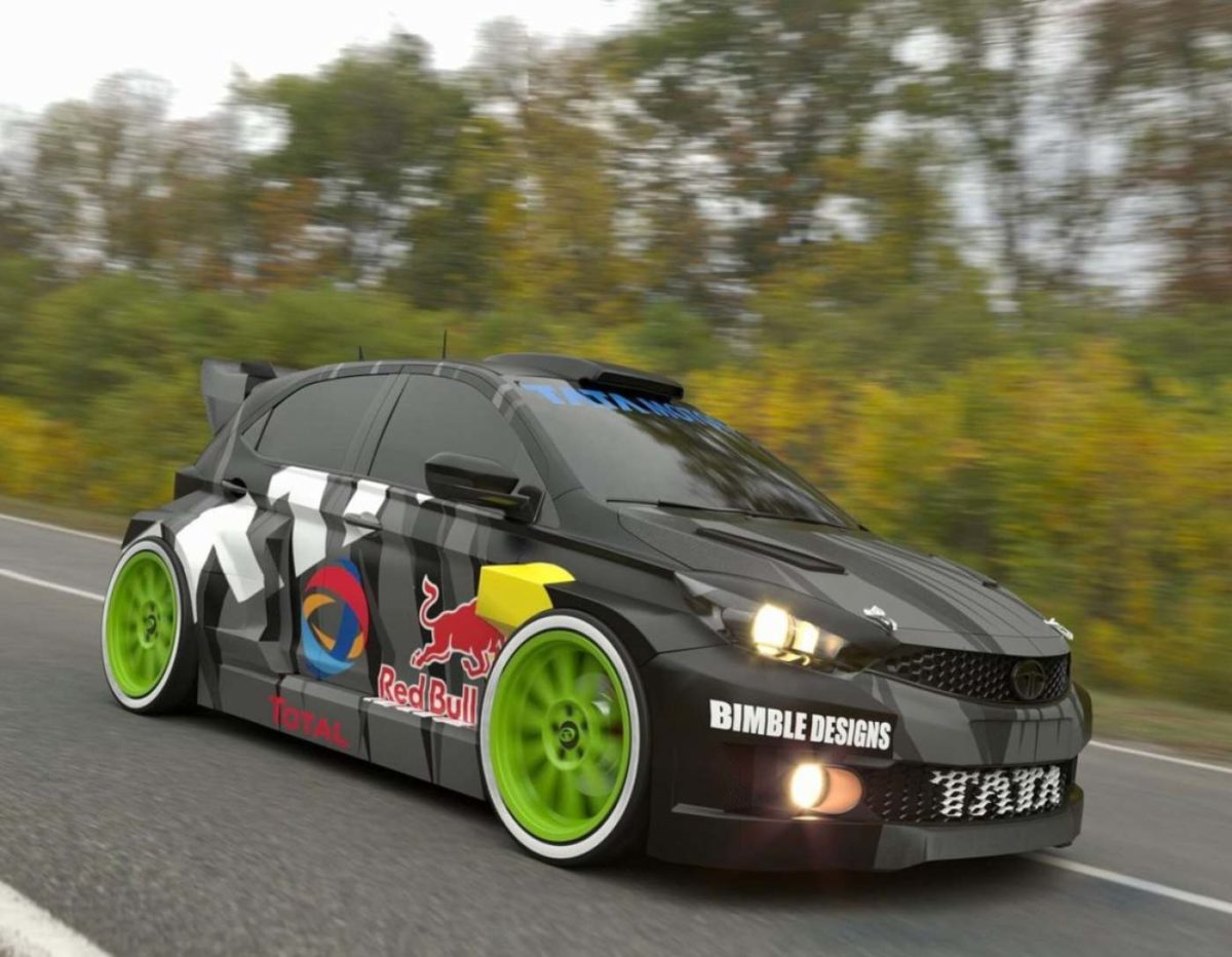Tata Tiago WRC edition rendered