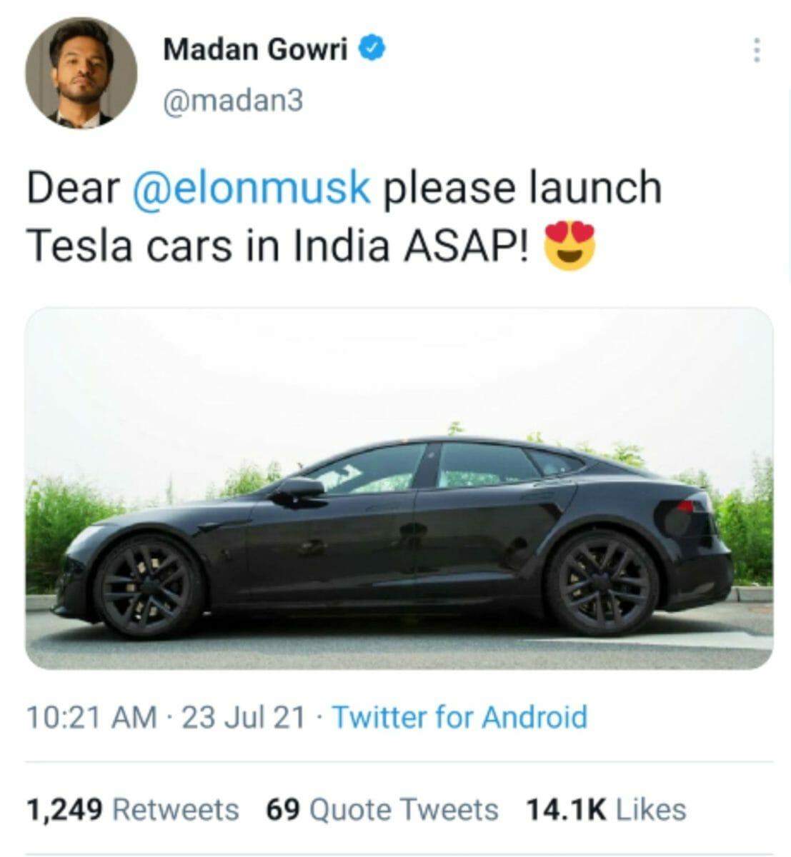 Tesla Tweet
