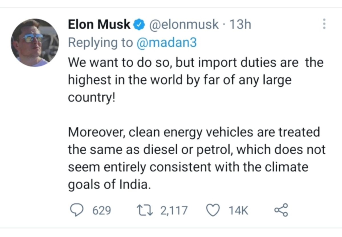 Tesla Tweet 2