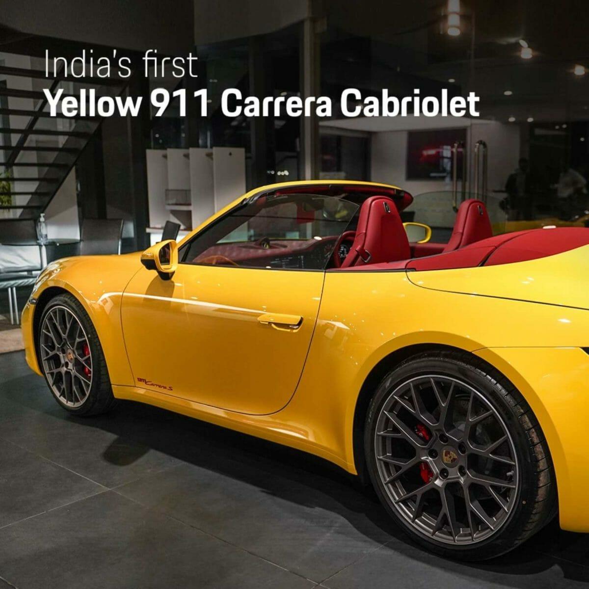 Yellow 911 Carrera Cabriolet (1)