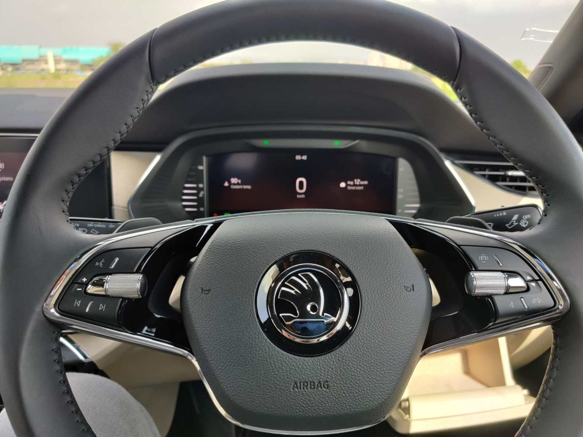 skoda octavia steering wheel