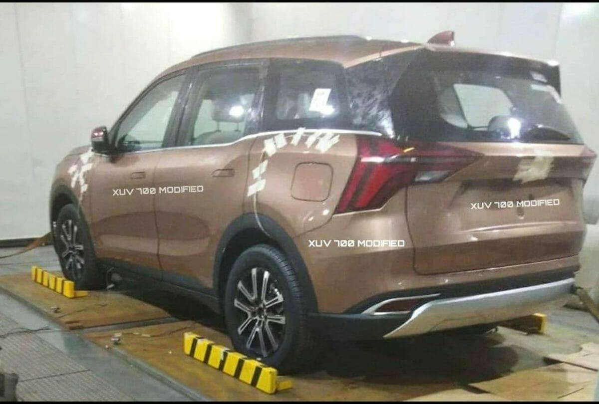 xuv700 leaked in chakan rear