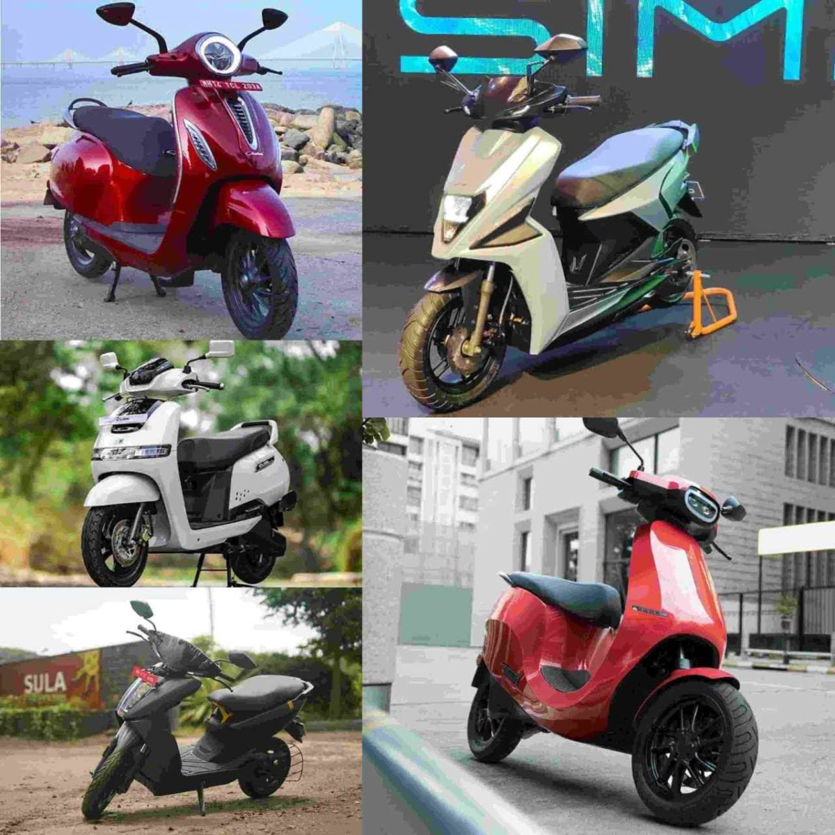 Electric scooter collage