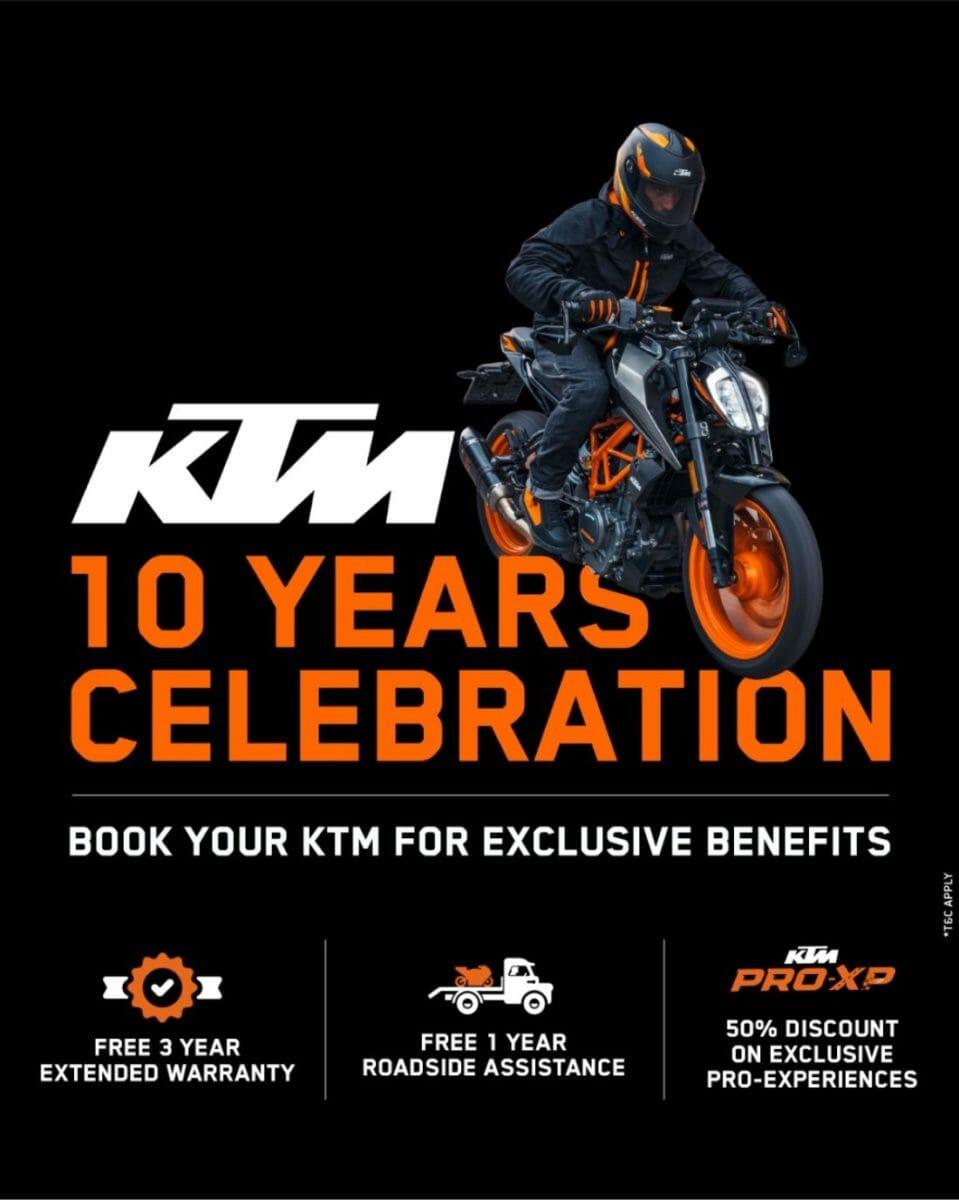 KTM 10 years celebration