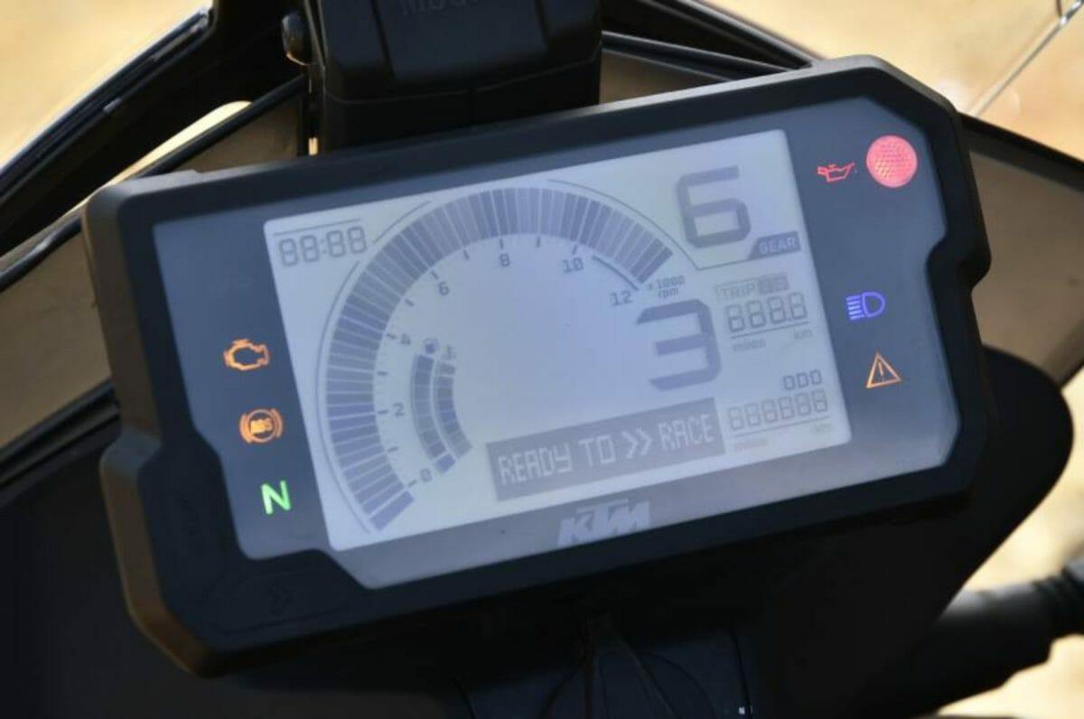 KTM 250 adventure lcd display