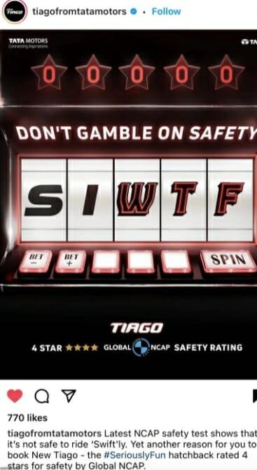 Tata Motors – Swift Joke