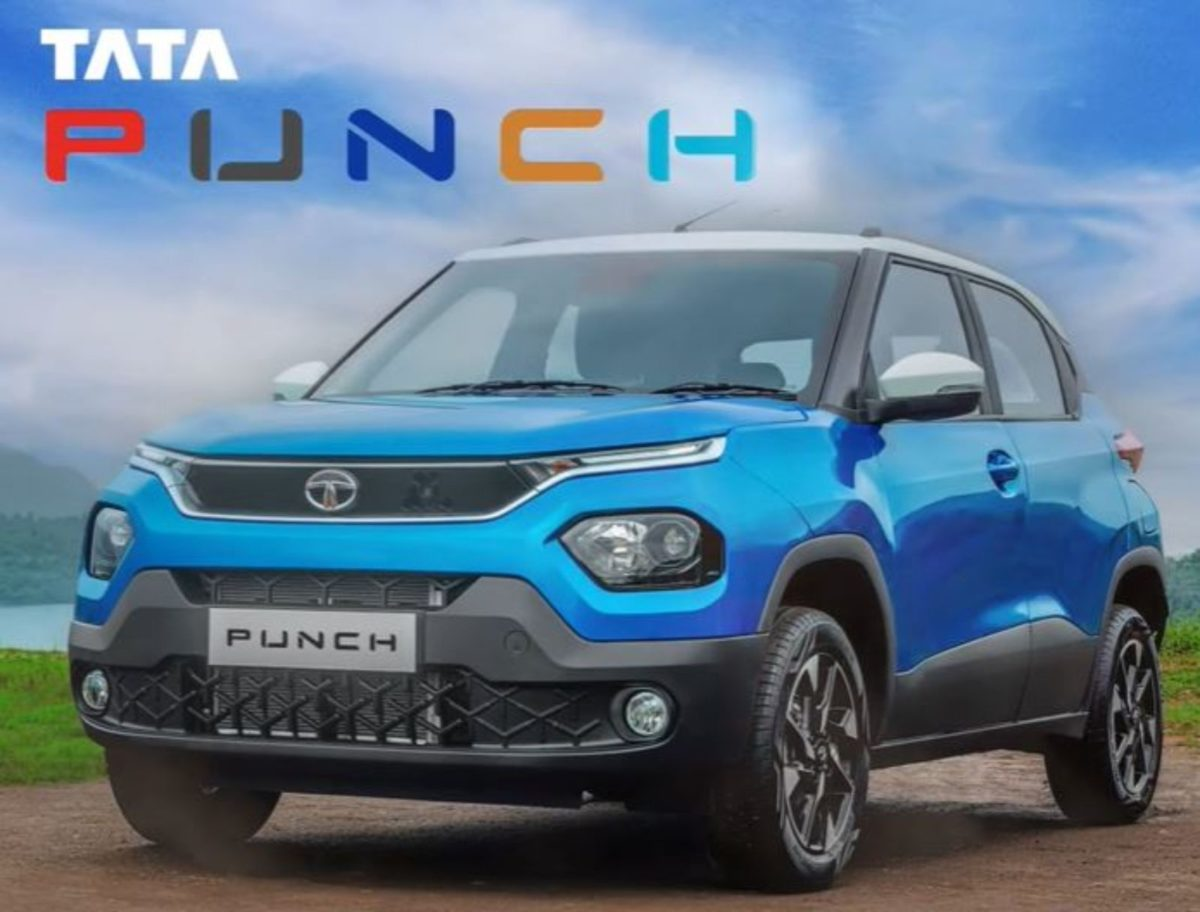 Tata Punch with Logo