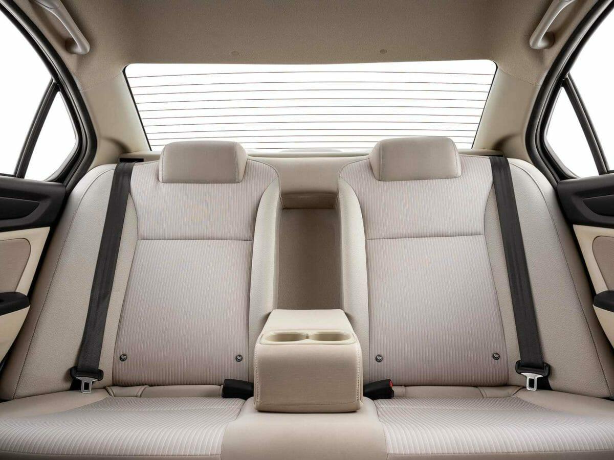 honda amaze facelift rear seat