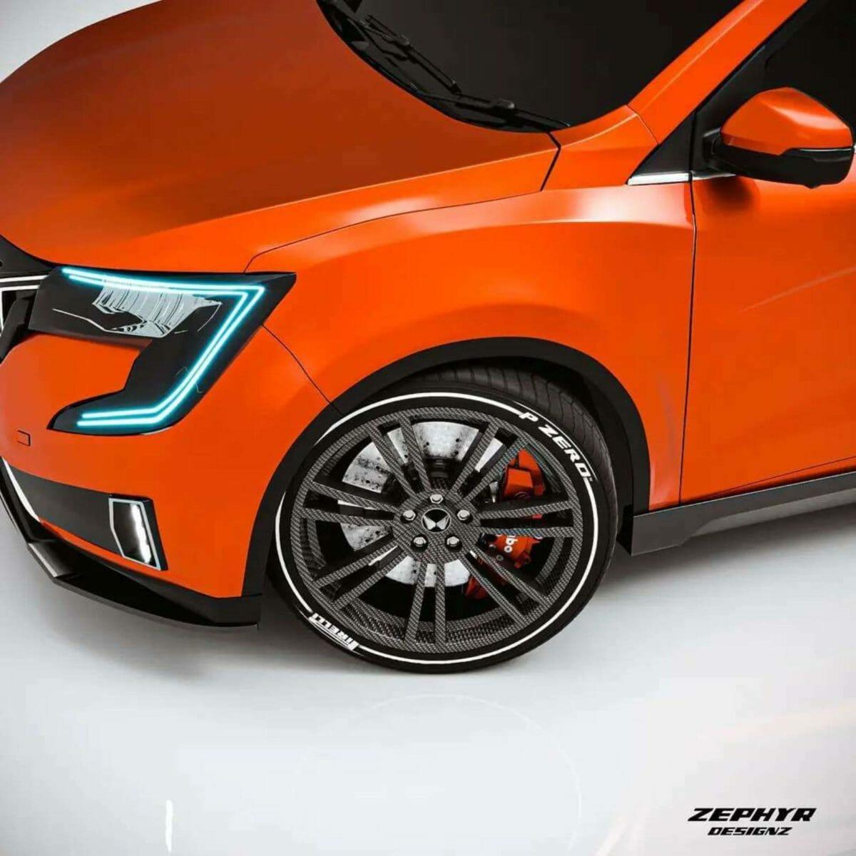 mahindra xuv700 sports edition render wheels