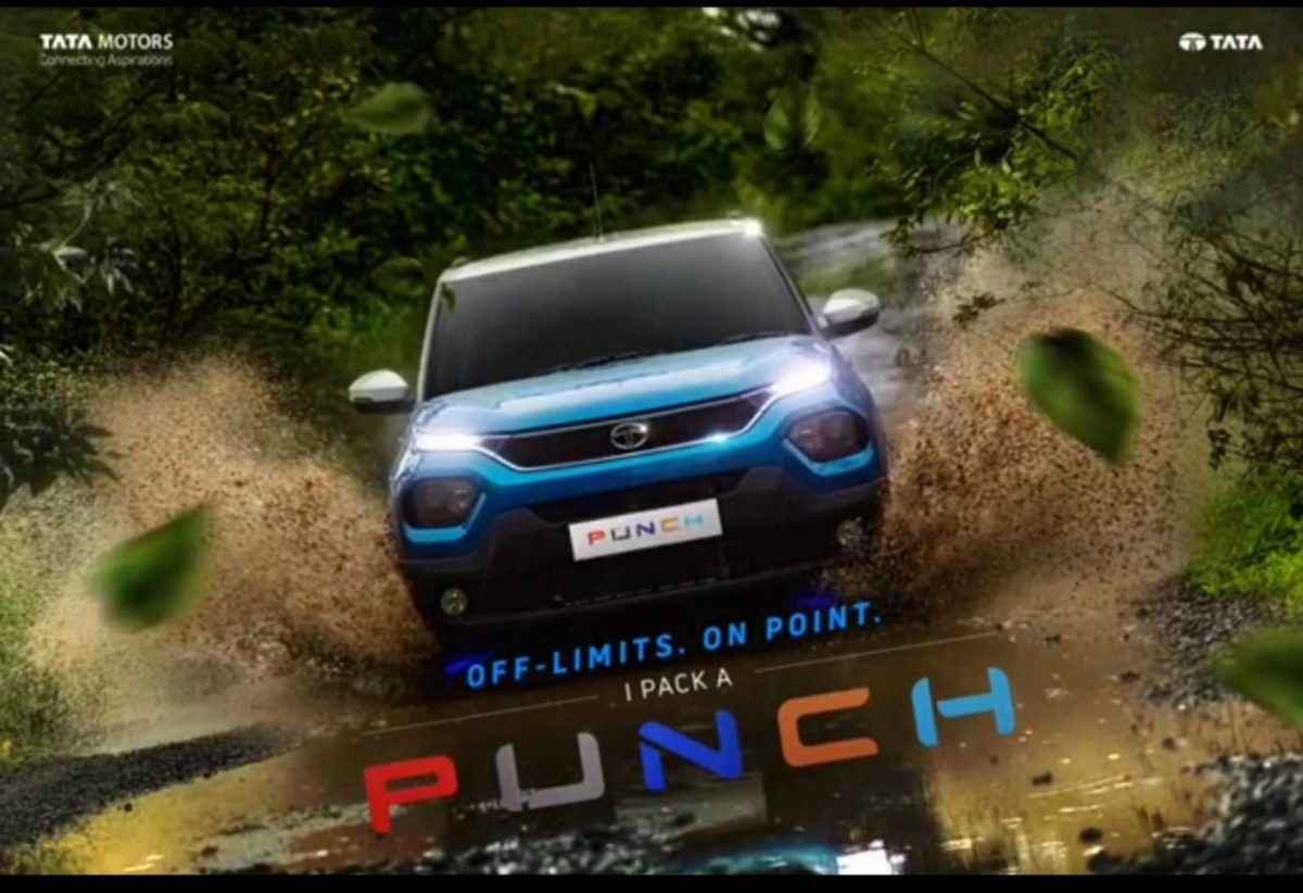tata punch revealed front