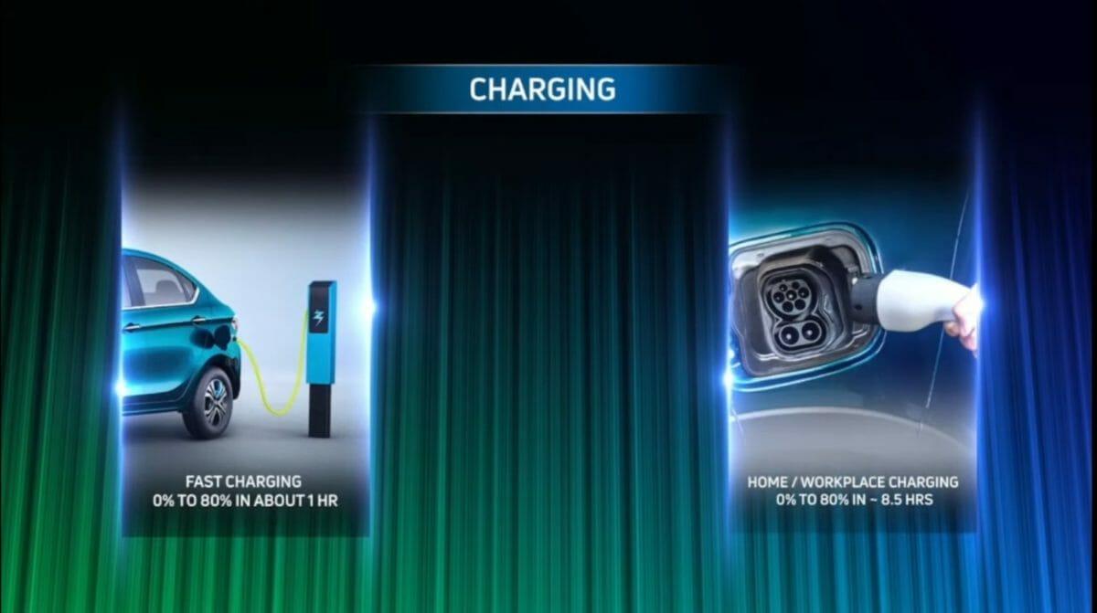 tata tigor ev reveal charging
