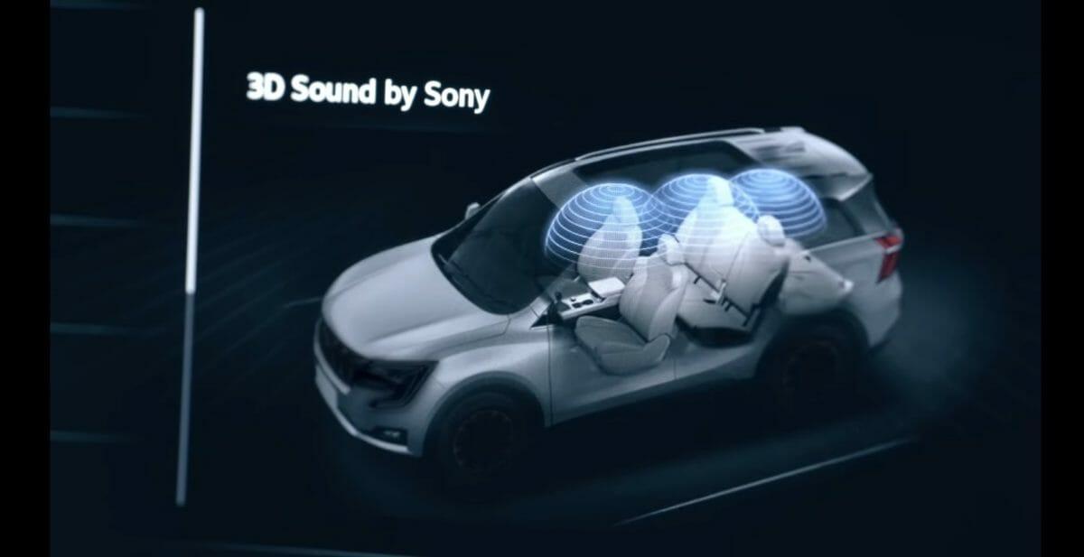xuv700 sony 3d sound