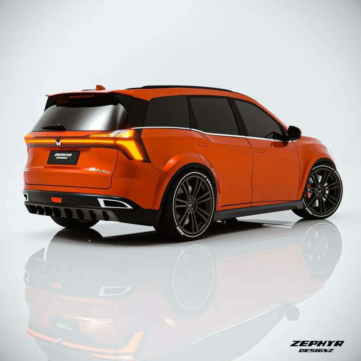 xuv700 sports edition render rear
