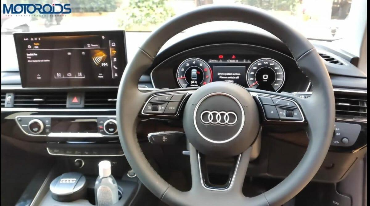 Audi A4 facelift interior