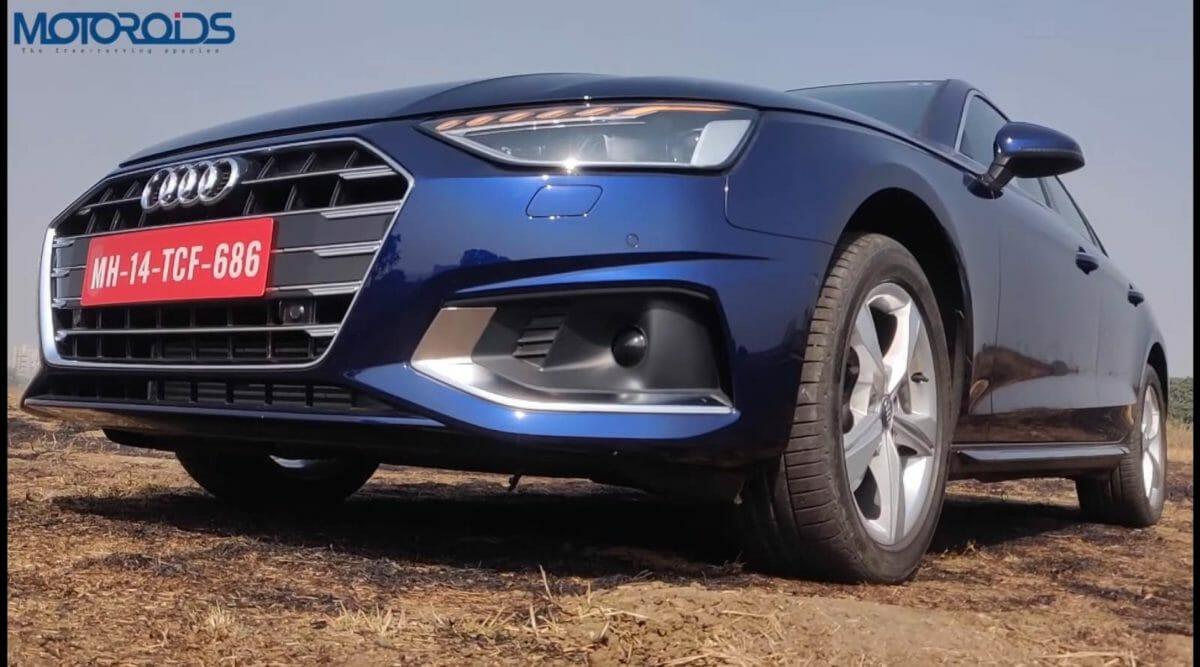 Audi a4 facelift review front quarter