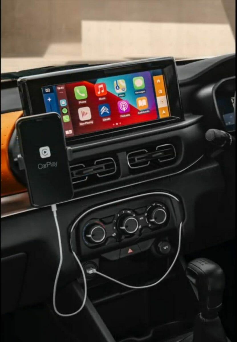Citroen C3 revealed for india centre console