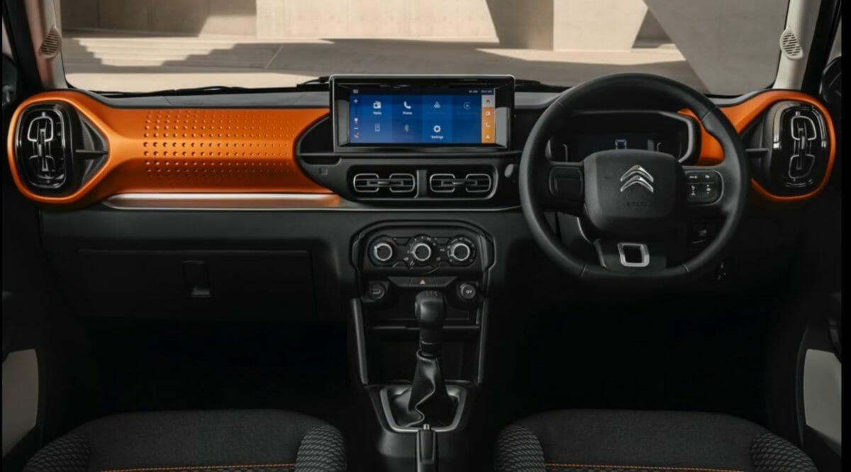 Citroen C3 revealed for india dashboard