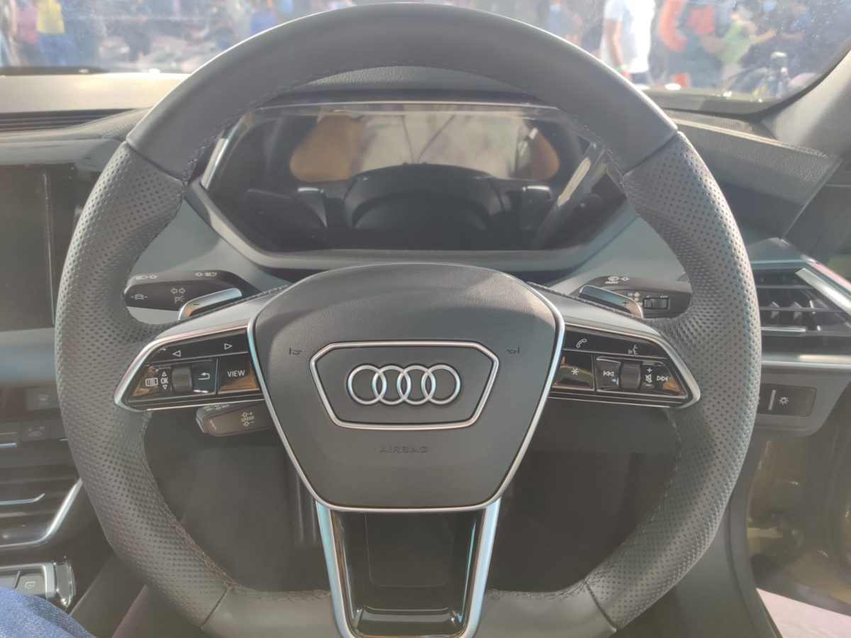 Audi E Tron GT launched in india steering wheel