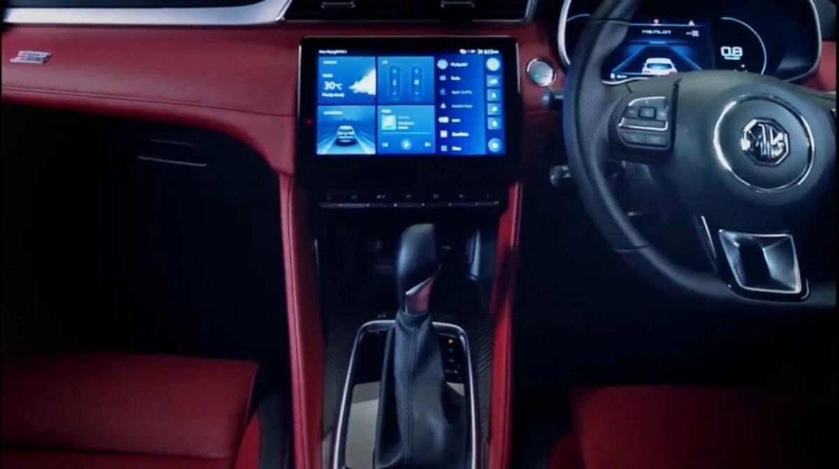 MG Astor unveiled interior