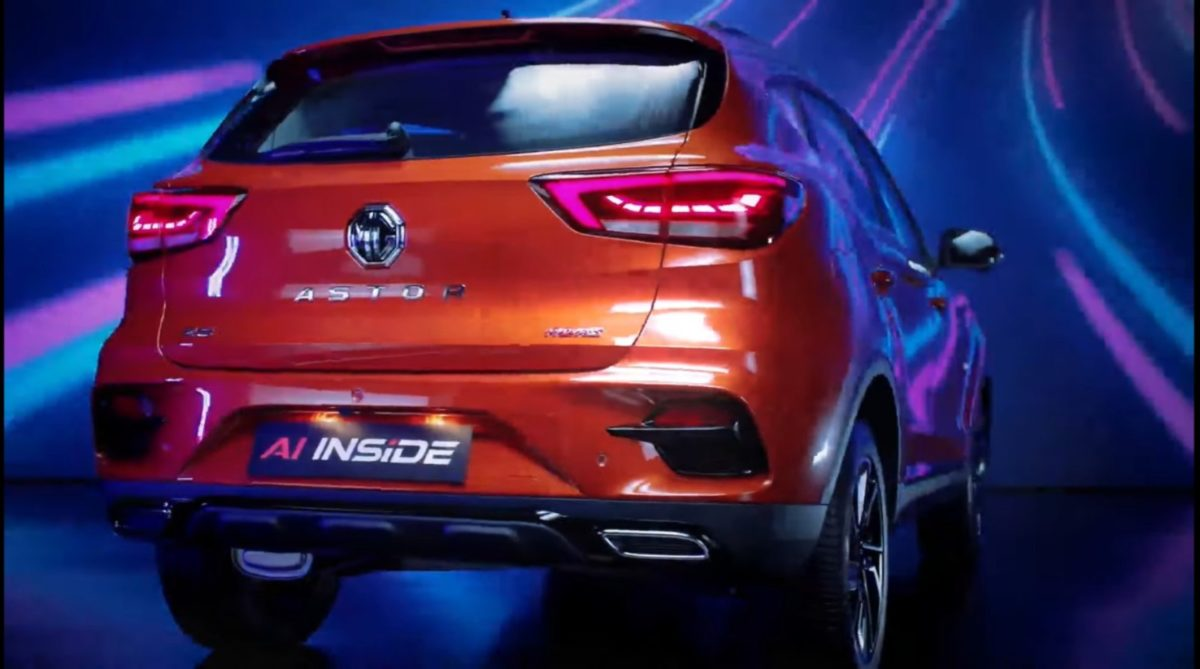 MG Astor unveiled rear