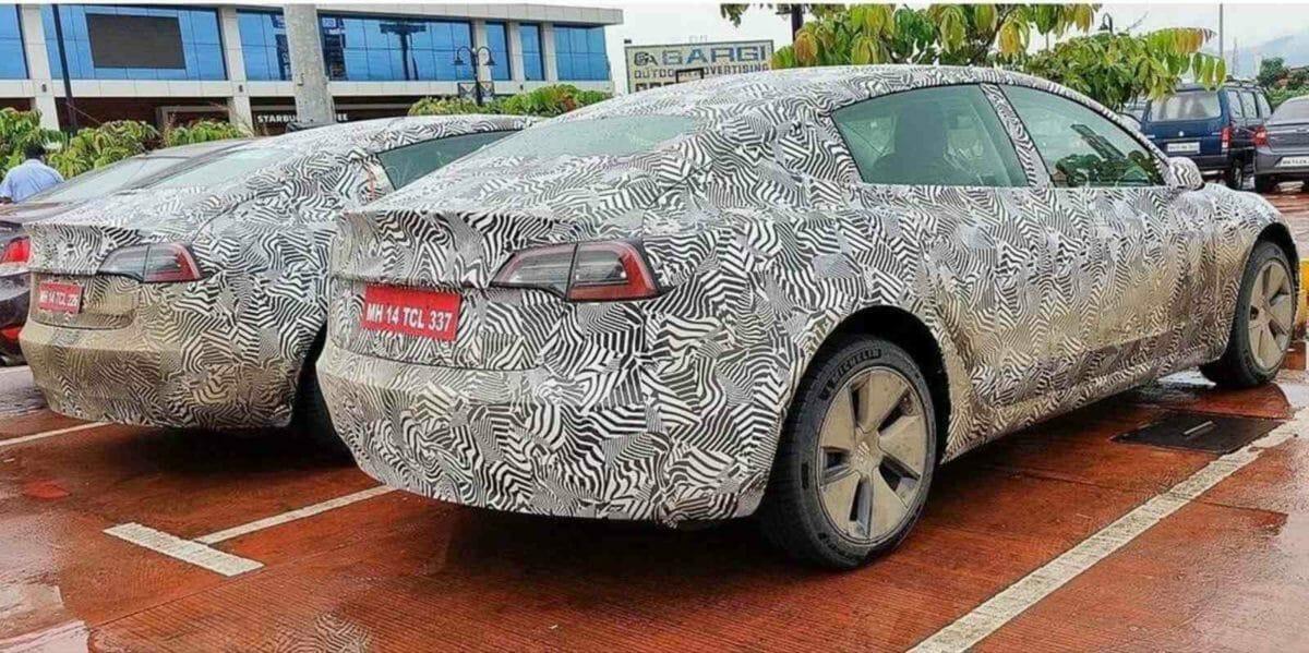 Tesla model 3 spotted during homologation rear