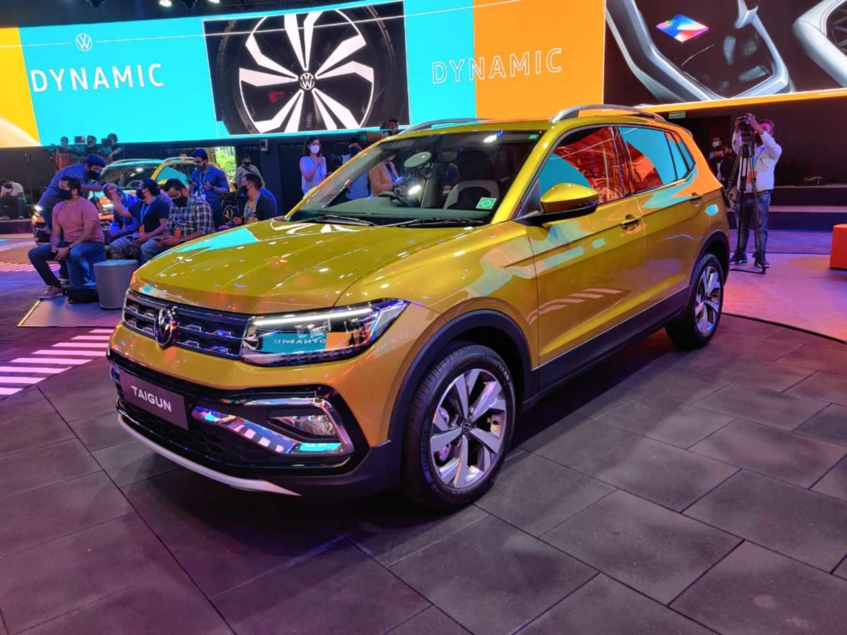 VW Taigun launched in India front