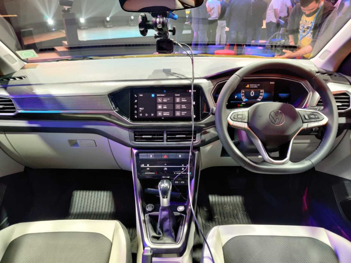 VW Taigun launched in India interior