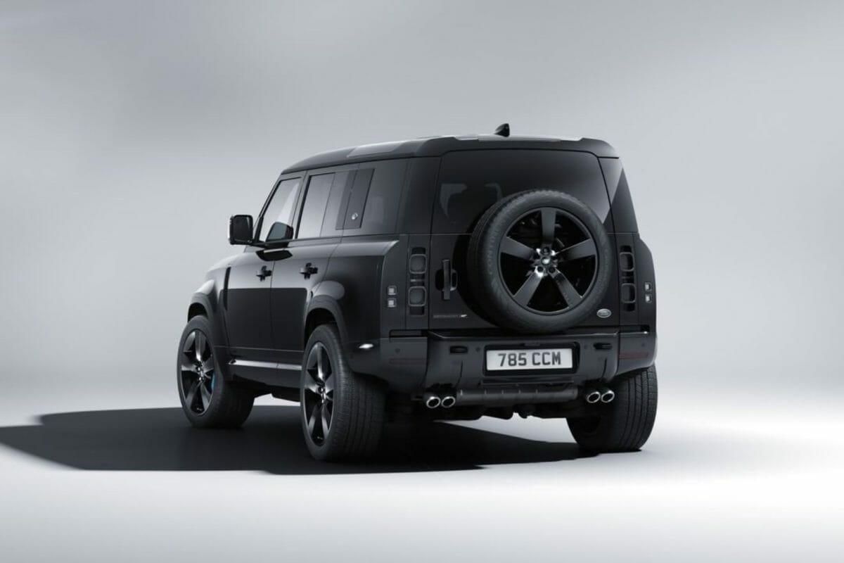 land rover defender v8 bond edition rear
