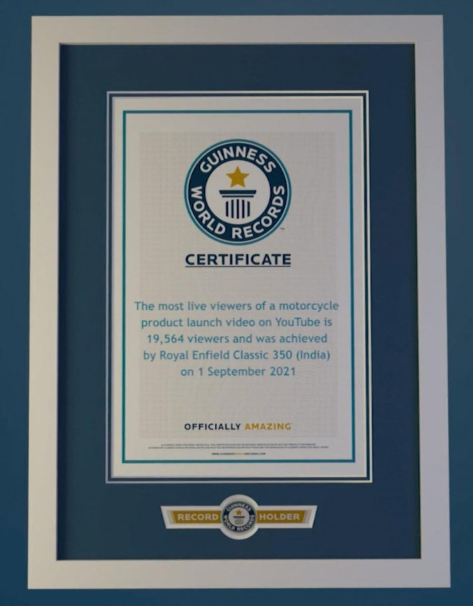 Royal Enfield Classic 350 World Record