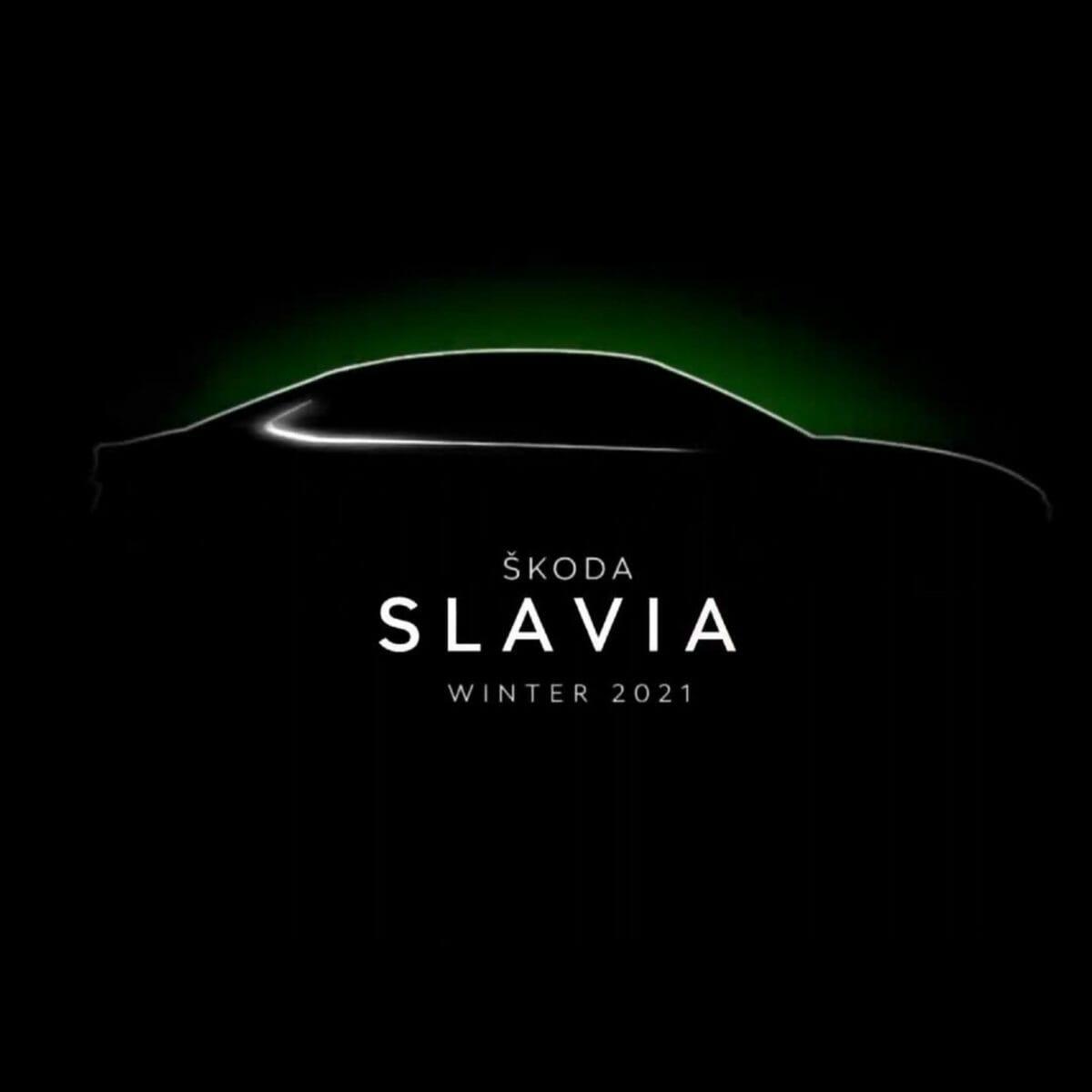 Skoda Slavia teased