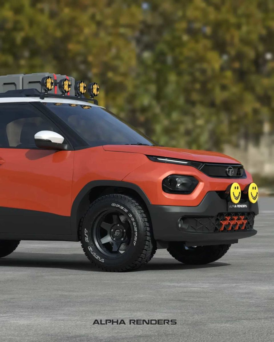 Tata Punch off road render front